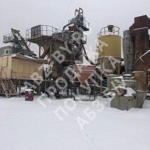 Асфальтобетонный завод Teltomat зимой