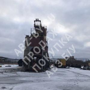 Асфальтный завод ДС-168 - фото зимой