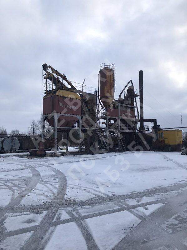 Асфальтобетонный завод ДС-168 - фото зимой