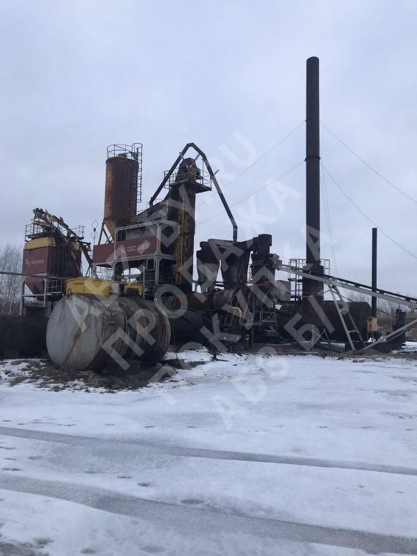 Асфальтобетонный завод ДС-185 - фото зимой